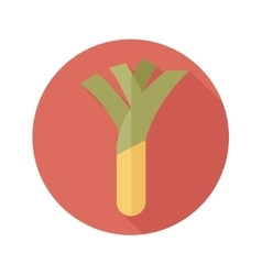 Leek flat icon with long shadow vector
