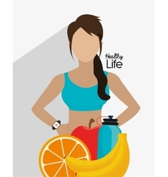 Healthy fitness lifestyle vector
