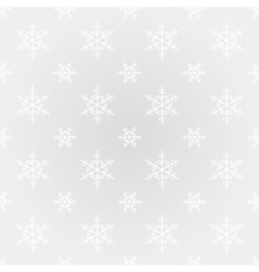 Seamless snowflake Christmas background vector image