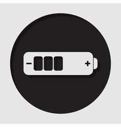 Information icon - white battery medium vector