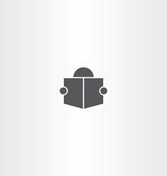 man read book icon symbol sign vector image