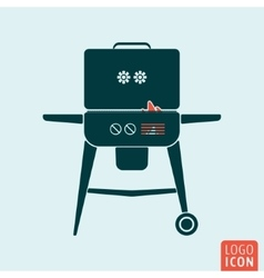 BBQ icon isolated vector image