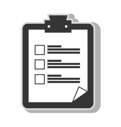 Checklist note sheet vector
