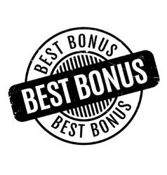 Best Bonus rubber stamp vector image vector image