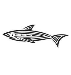 Black shark tattoo for design vector image vector image