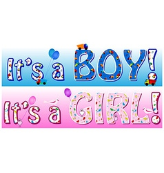 Boy girl announcement vector image