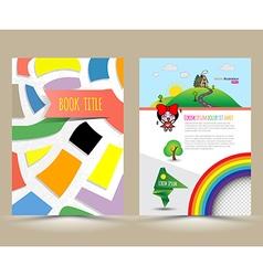 Brochure template design cartoon style vector