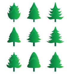 Christmas tree icons vector image