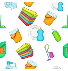 Cleaning pattern cartoon style vector