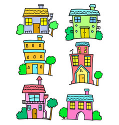 Doodle of house set art vector