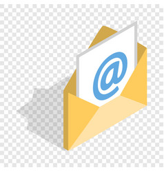 e-mail isometric icon vector image