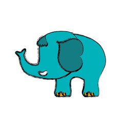 elephant cartoon drawing childish faceless vector image vector image