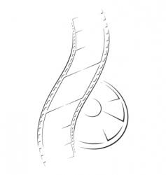film sketch vector image