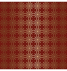 Gold geometric tracery with gradient on red vector