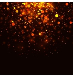 gold glowing light glitter background vector image