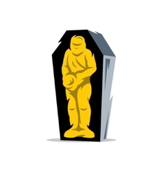 Gold mummy cartoon vector