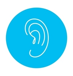 Human ear line icon vector