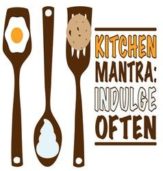 Kitchen mantra vector