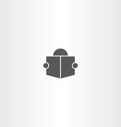 man read book icon symbol sign vector image vector image
