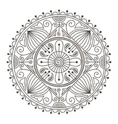 mandala doodle vector image vector image