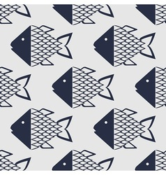Marine fish pattern vector image