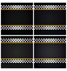 Metallic perforated sheets vector image
