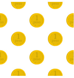 peso pattern seamless vector image vector image
