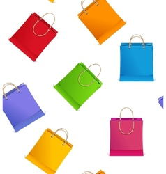 Seamless pattern different shopping bag on sale vector image