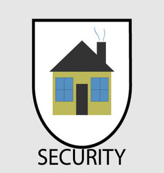 Secutity home icon vector image vector image