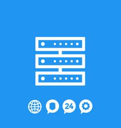 server icon vector image vector image