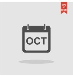 Simple Calendar Modern design flat style icon vector image vector image