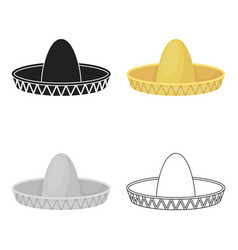 Sombrero icon in cartoon style isolated on white vector