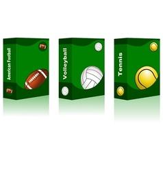 Sport box - American Football Volleyball Tennis vector image vector image