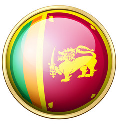 Sri lanka flag on round button vector