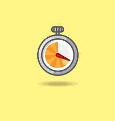 Stopwatch isolated on yellow vector