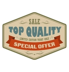 Top quality sale vintage banner vector