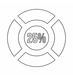 Sign 25 load icon outline style vector