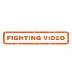 Fighting video rubber stamp vector