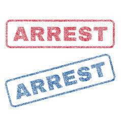 Arrest textile stamps vector