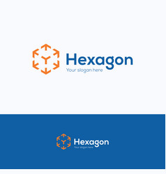 hexagon company logo vector image