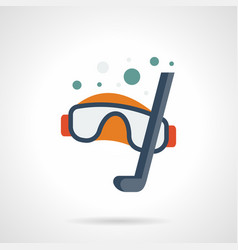 snorkeling sport flat color icon vector image