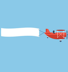 Airplane with poster vector
