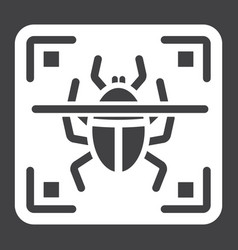 Virus scan solid icon security and antivurus vector