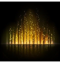 Gold aurora light abstract backgrounds vector