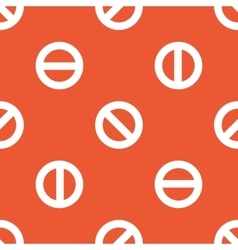 Orange no sign pattern vector