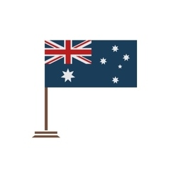 Flat icon on white background flag of australia vector
