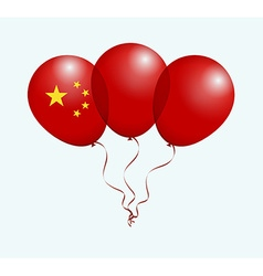 Balloons in as china national flag vector