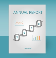 Annual report two graphs vector