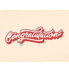 Congratulations Handlettering vector image