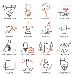 Set of icons related to business management - 30 vector